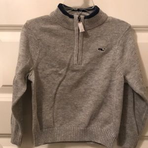 NWT Vineyard Vines Gray 1/4 ZIP Sweater Size 2T